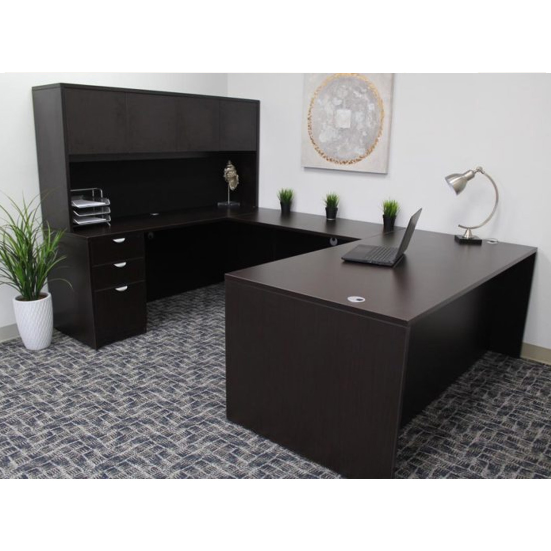 Boss Holland Executive U Shape Desk Mocha Galt Amp Littlepage